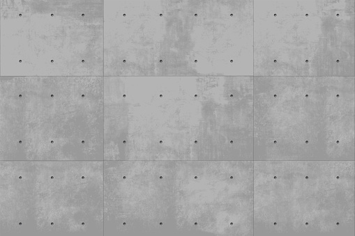 Gray vector concrete wall monolithic background. Industrial construction. Modern loft background