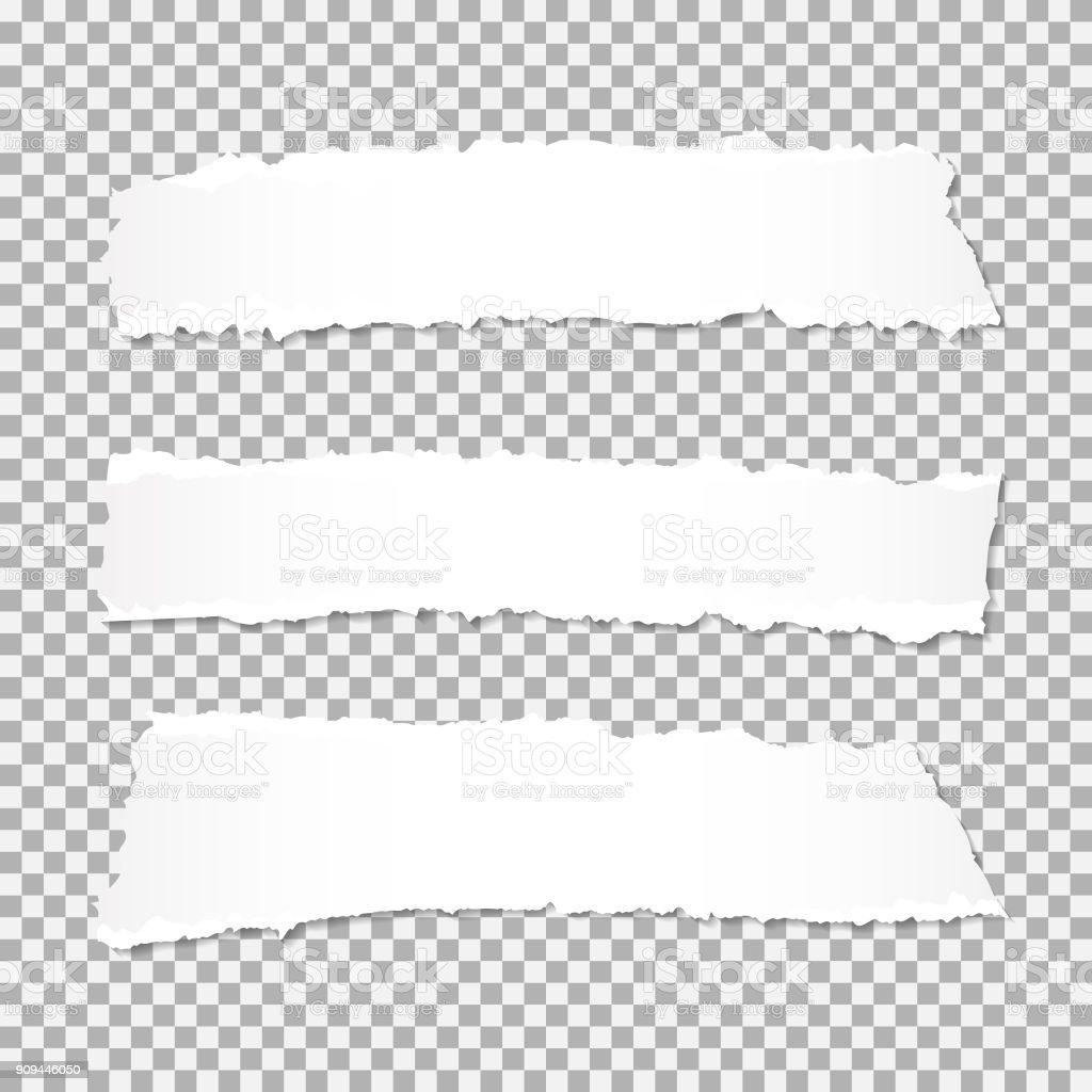 Vector réaliste déchiré papier à bords déchirés avec espace pour votre texte. - clipart vectoriel de Abstrait libre de droits
