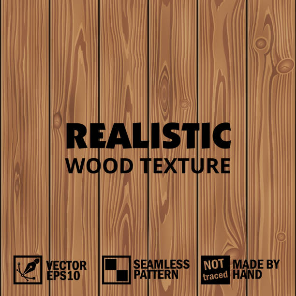 realistic vector wooden texture. editable seamless background - wood texture stock illustrations