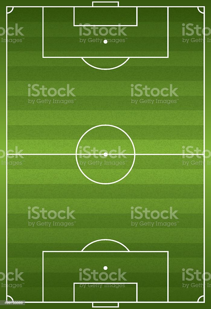 Realistic Vertical Football - Soccer Field Illustration vector art illustration