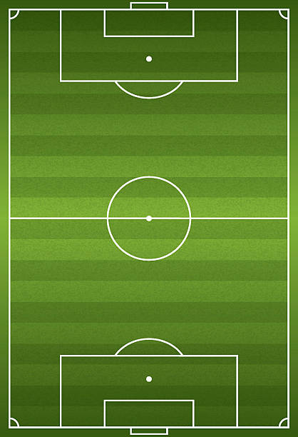 realistic vertical football - soccer field illustration - football field stock illustrations