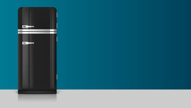 Amerikanischer Kühlschrank Vintage : Retro kühlschrank vektorgrafiken und illustrationen istock