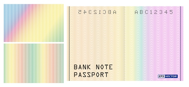 realistic watermark banknote pattern isolated