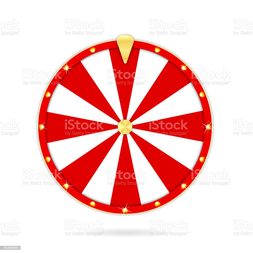 Realistic Wheel Of Fortune Isolated On White Background Gambling