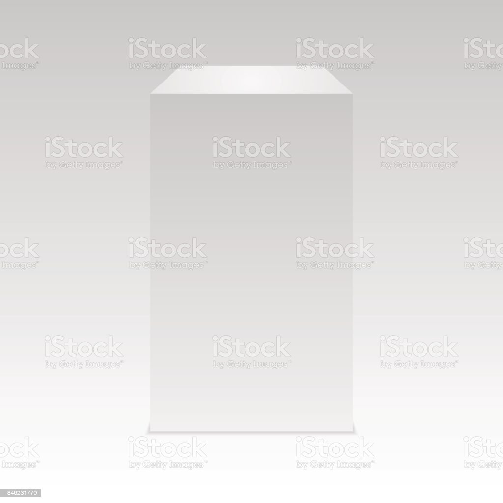 Realistic white cube with Shadow.  Vector. vector art illustration
