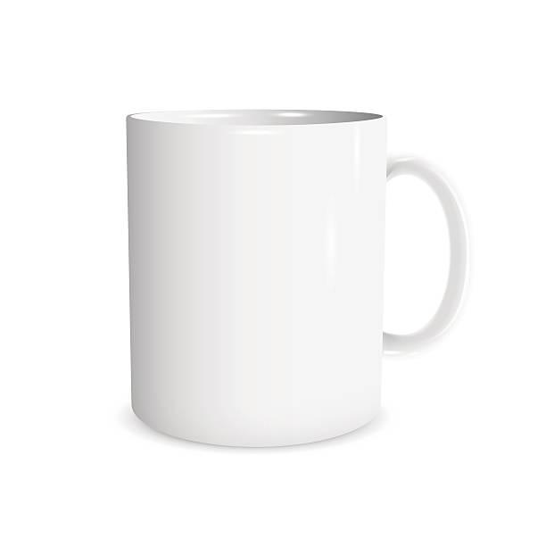 bildbanksillustrationer, clip art samt tecknat material och ikoner med realistic white cup - kaffekopp