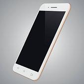 Realistic white mobile phone template