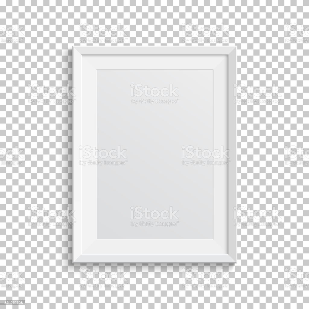 Realistic white picture frame on transparent background. royalty-free realistic white picture frame on transparent background stock vector art & more images of abstract