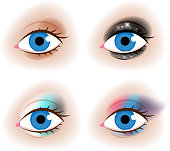 Realistic woman's eyes vector illustration