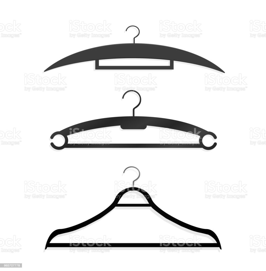 realistic wooden hangers for coats sweaters dresses skirts pants