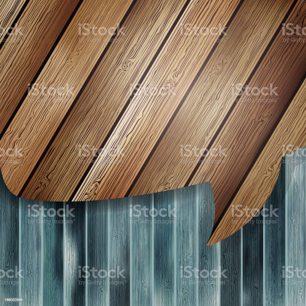 Realistic wooden speech bubbles. EPS 10 royalty-free stock vector art