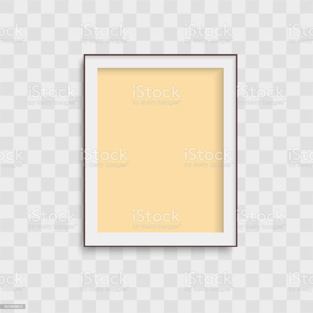 Realistische Gelben Bilderrahmen Auf Transparenten Hintergrund ...