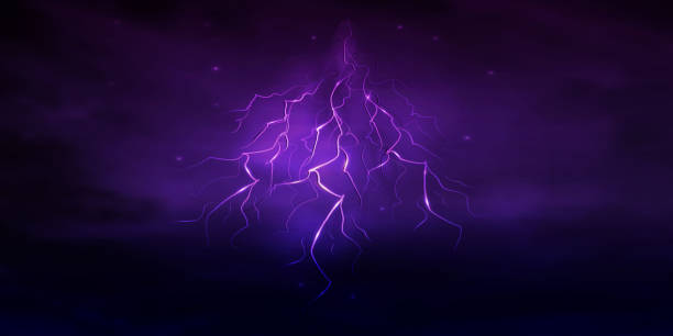 Best Purple Lightning Bolt Illustrations, Royalty-Free