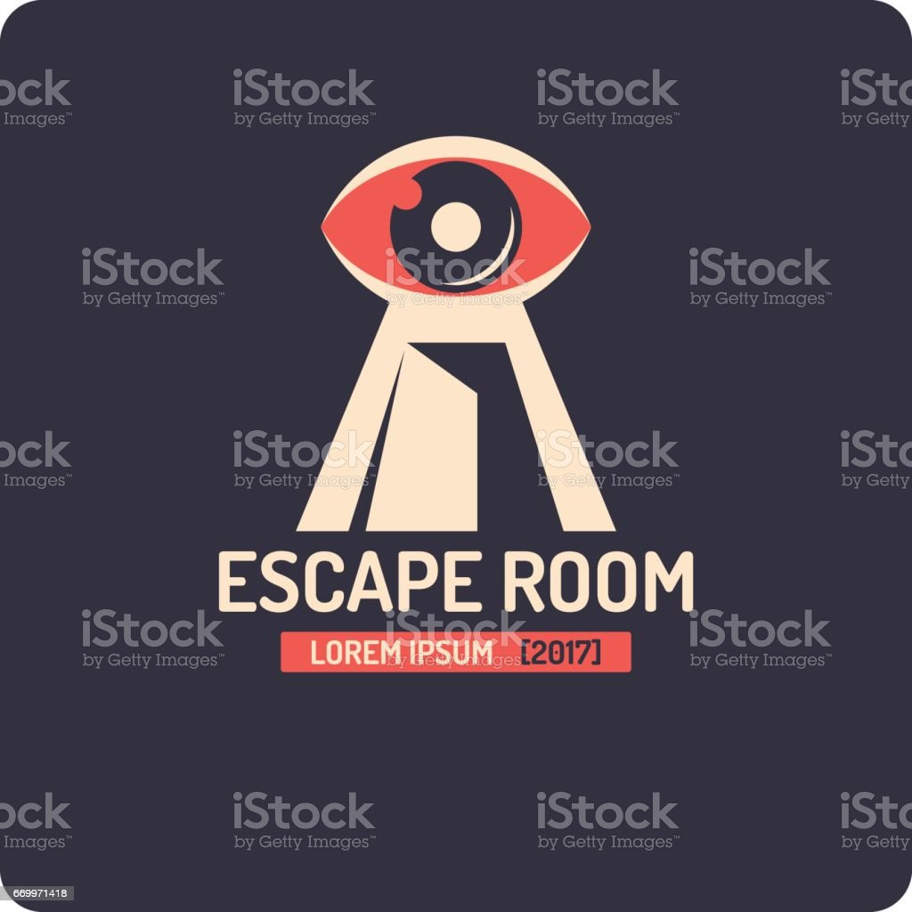 Real-life room escape and quest game poster vector art illustration
