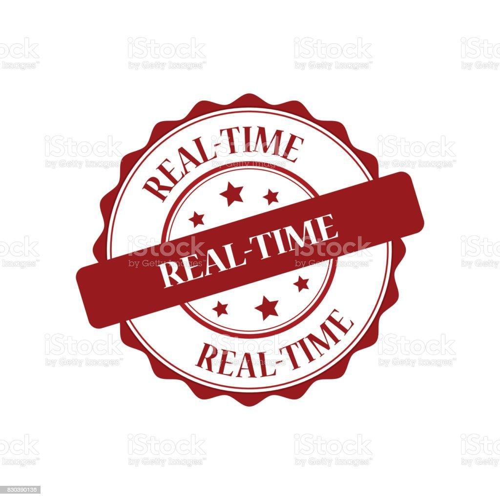 Real-time red stamp illustration vector art illustration