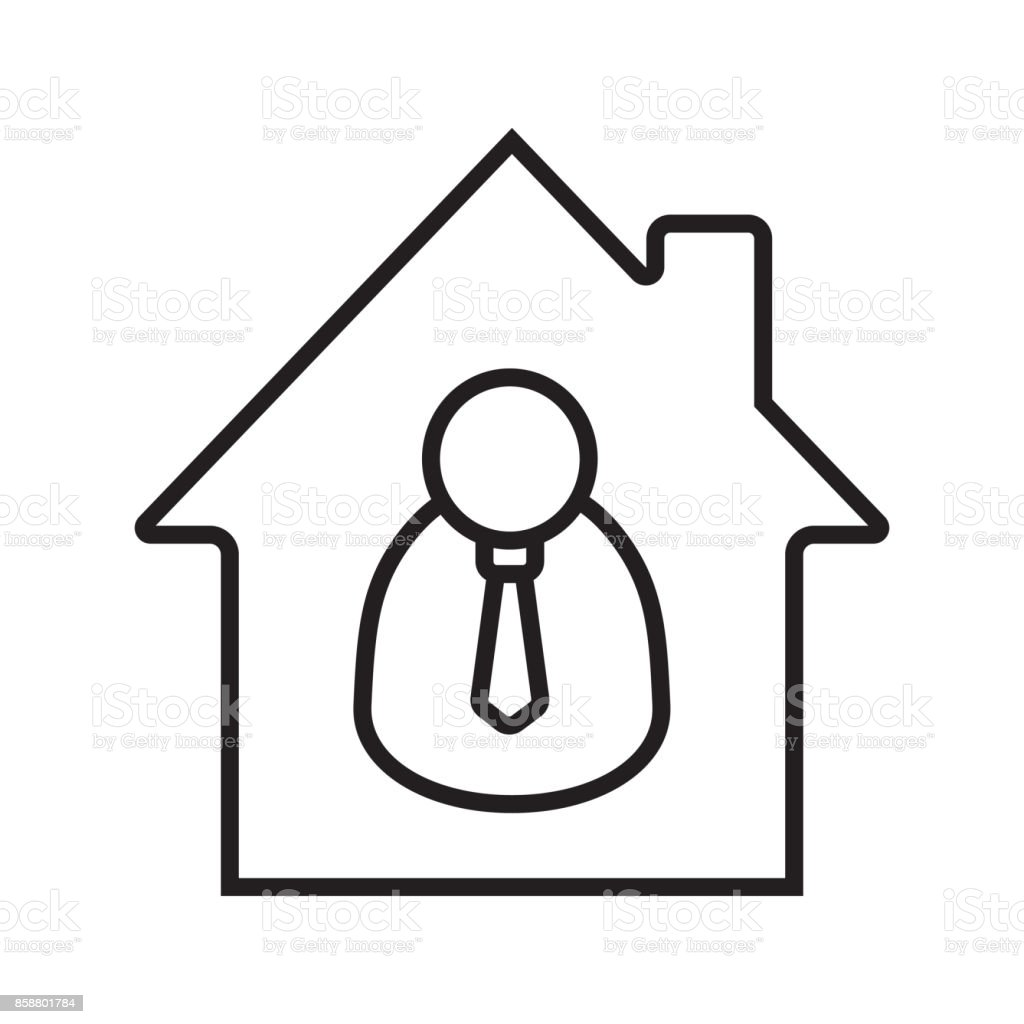 Realtor icon - illustrazione arte vettoriale