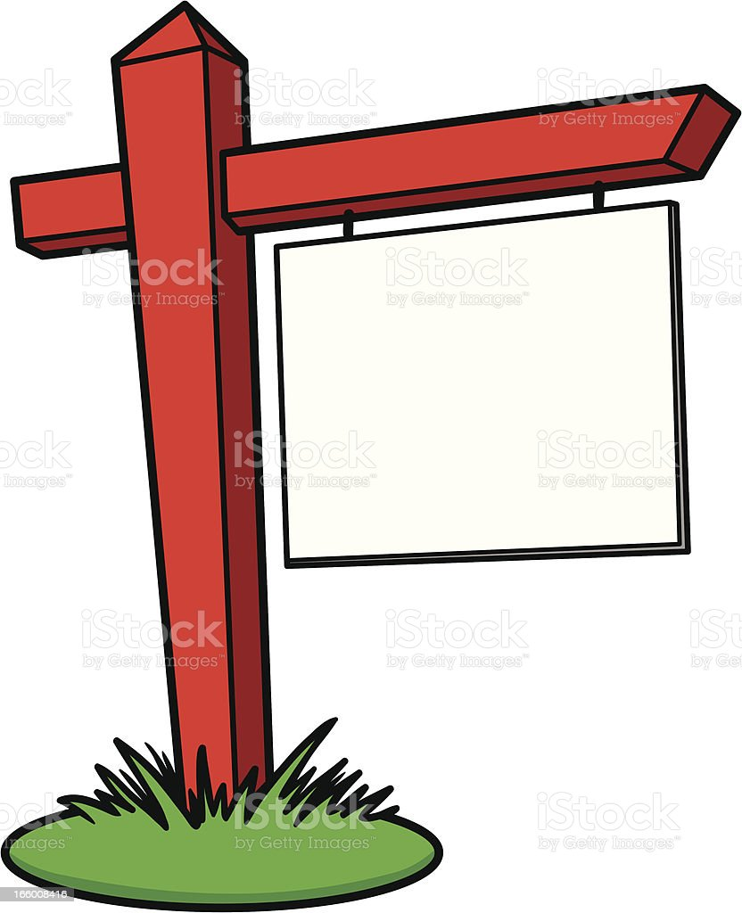royalty free real estate sign real estate sign wooden post clip art rh istockphoto com