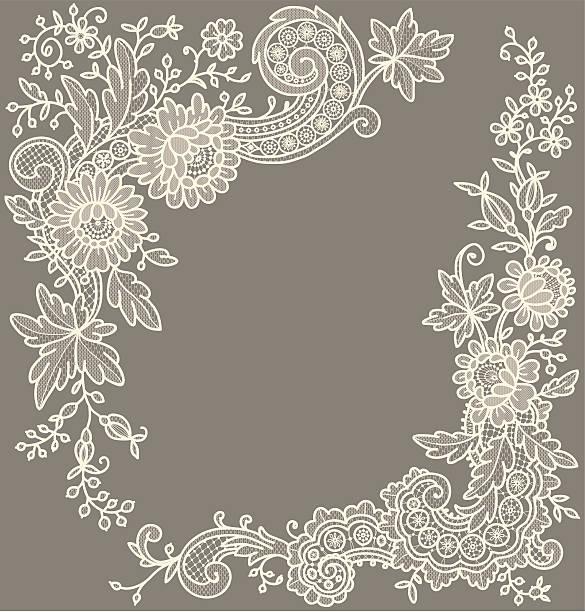 Сream-colored lace Corners. vektorkonstillustration