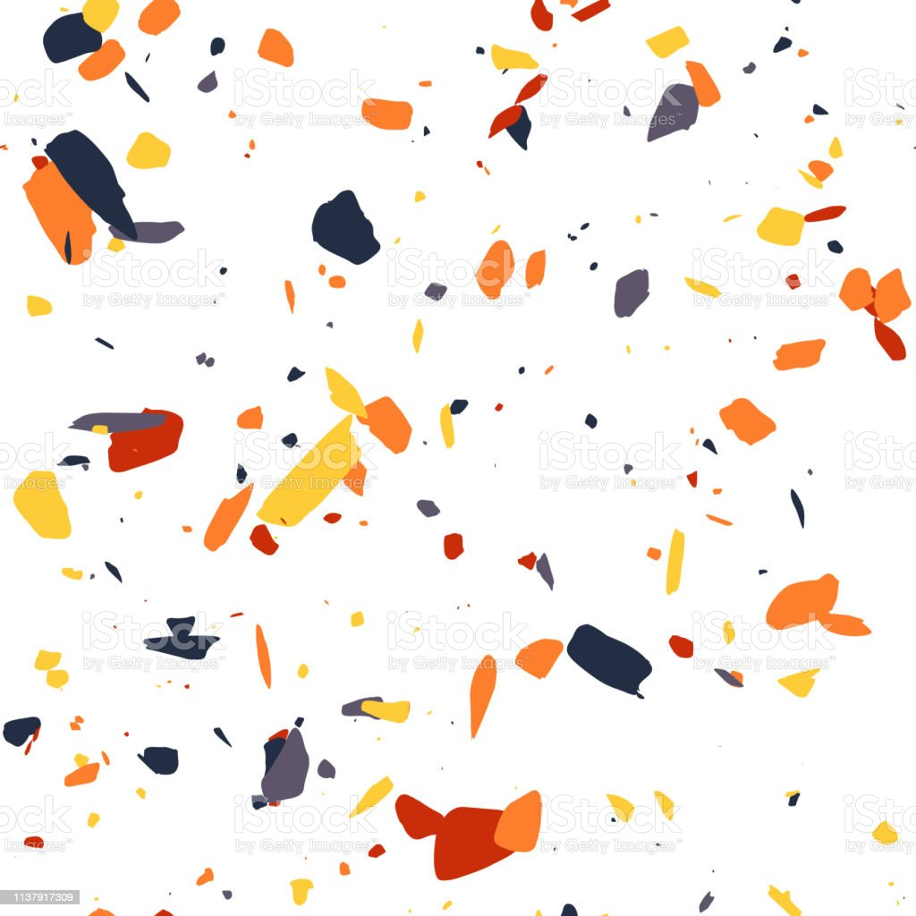 Reapeated Geometric Vector Terrazzo Citchen Pattern Abstract