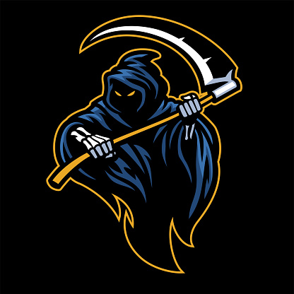 reaper mascot with sickle