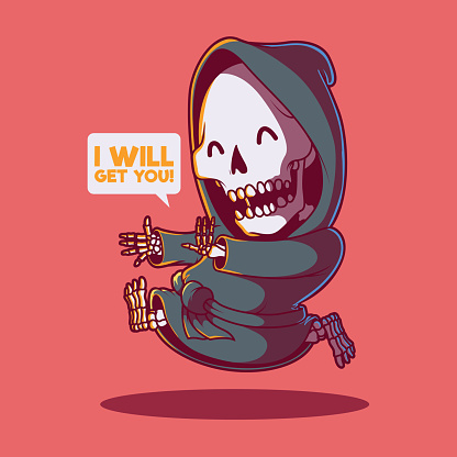 Reaper running vector illustration.
