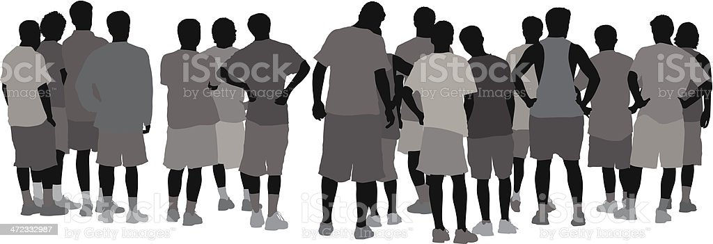 Rear view of a people's group royalty-free rear view of a peoples group stock vector art & more images of adult