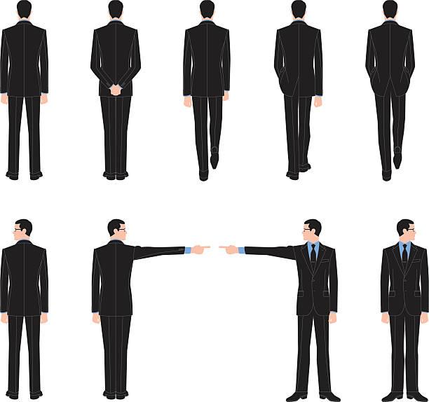 スーツ 後ろ姿 歩く イラスト素材 Istock