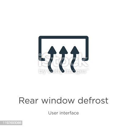 Rear window defrost icon vector. Trendy flat rear window defrost icon from user interface collection isolated on white background. Vector illustration can be used for web and mobile graphic design,