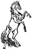 Rearing horse stallion tattoo
