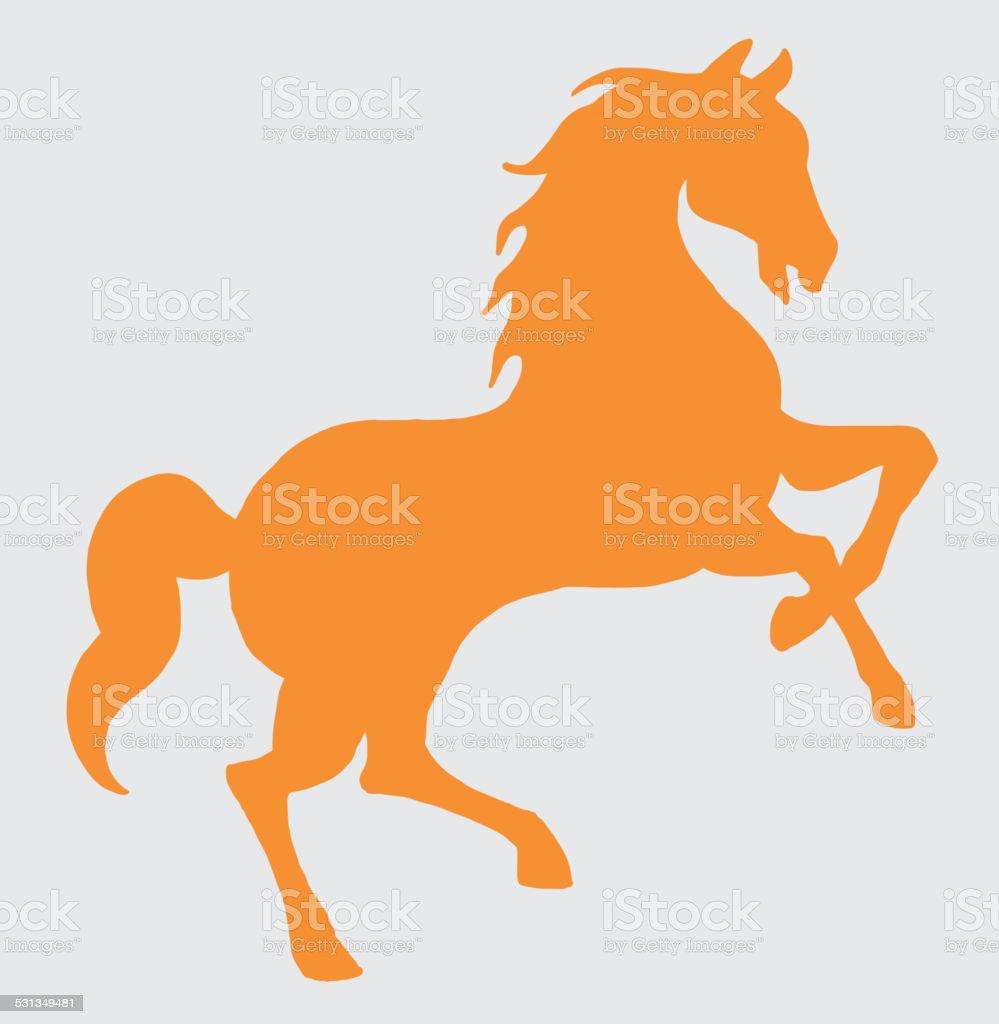 Rearing Horse vector art illustration
