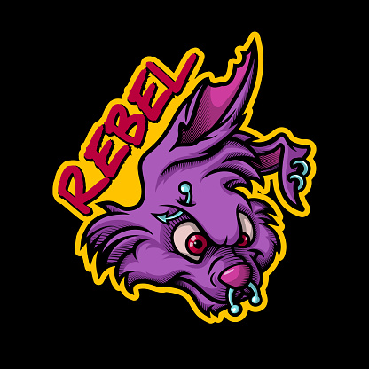 Rebel Rock bunny mascot.