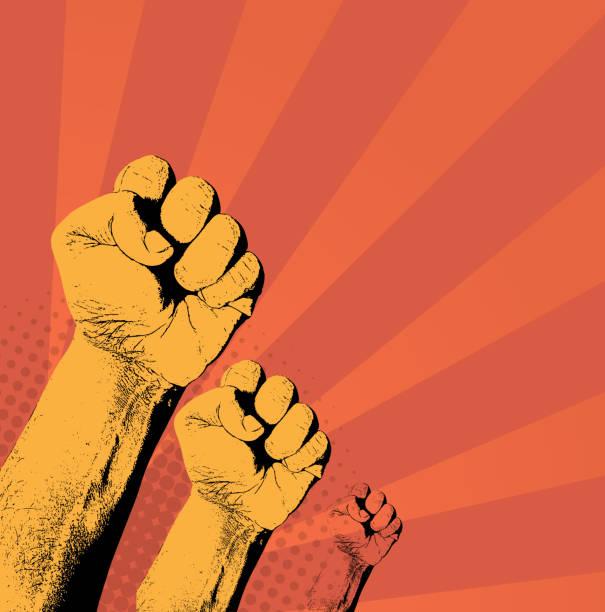 ilustrações de stock, clip art, desenhos animados e ícones de rebel - greve