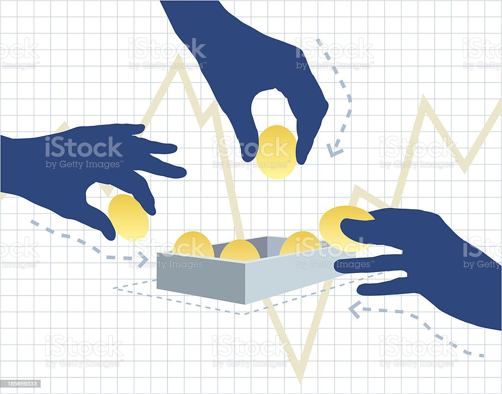 Rebuilding the Savings vector art illustration