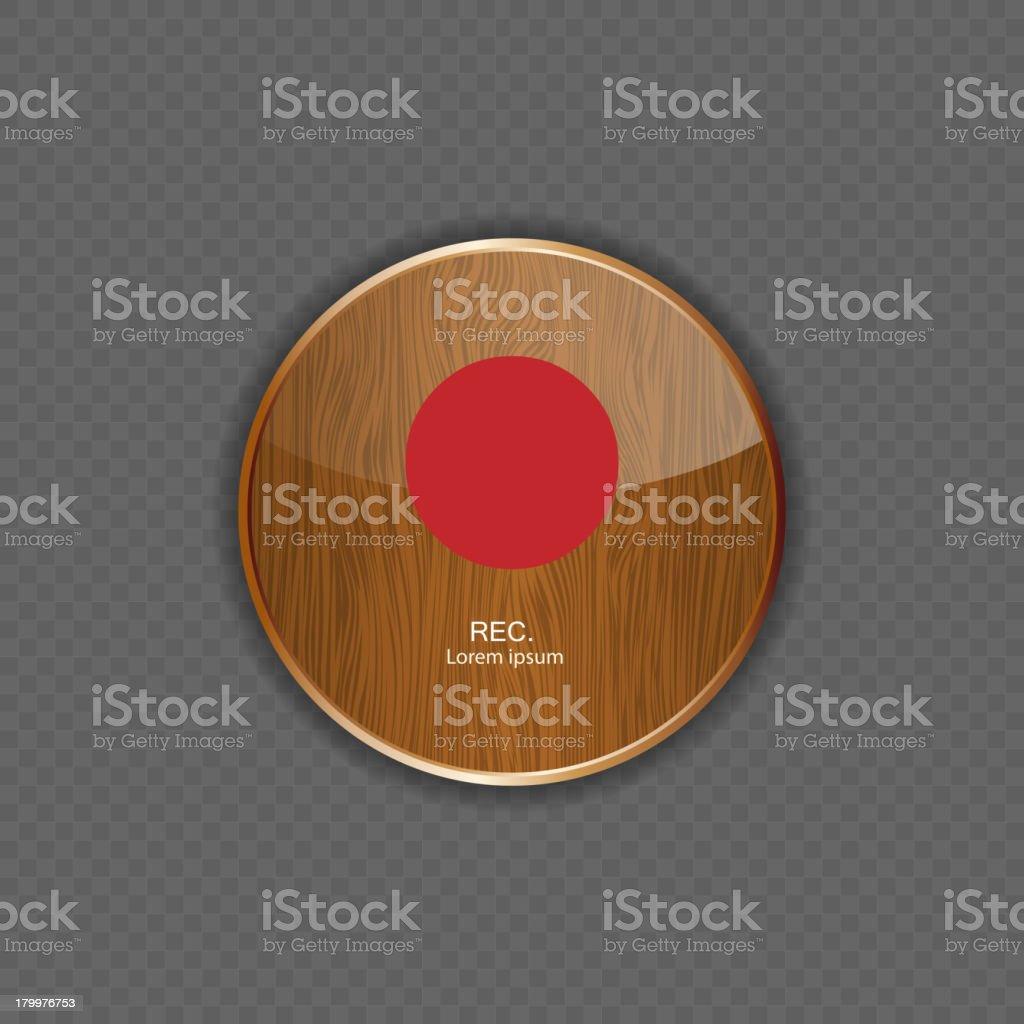 Rec wood application icons royalty-free stock vector art