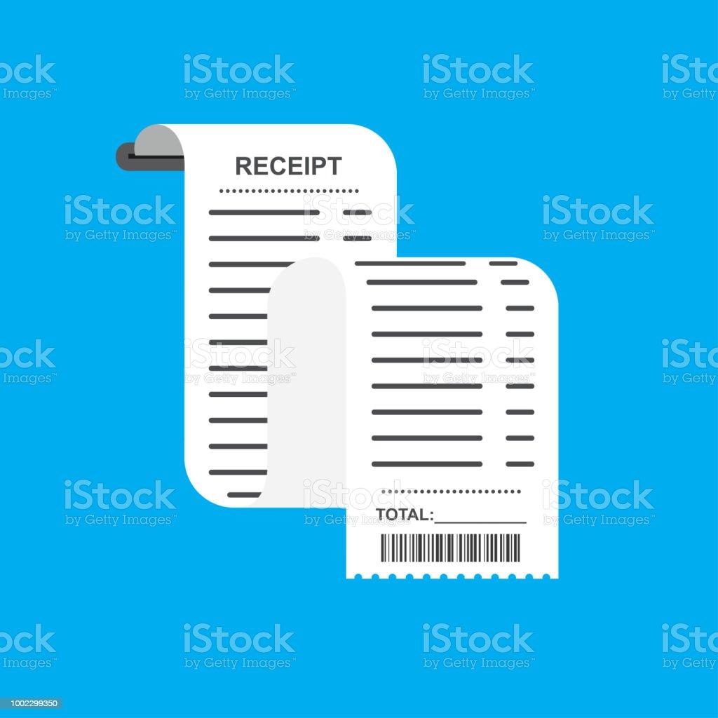 Quittung Rechnung Papierrechnung Designvorlage Stock Vektor Art Und