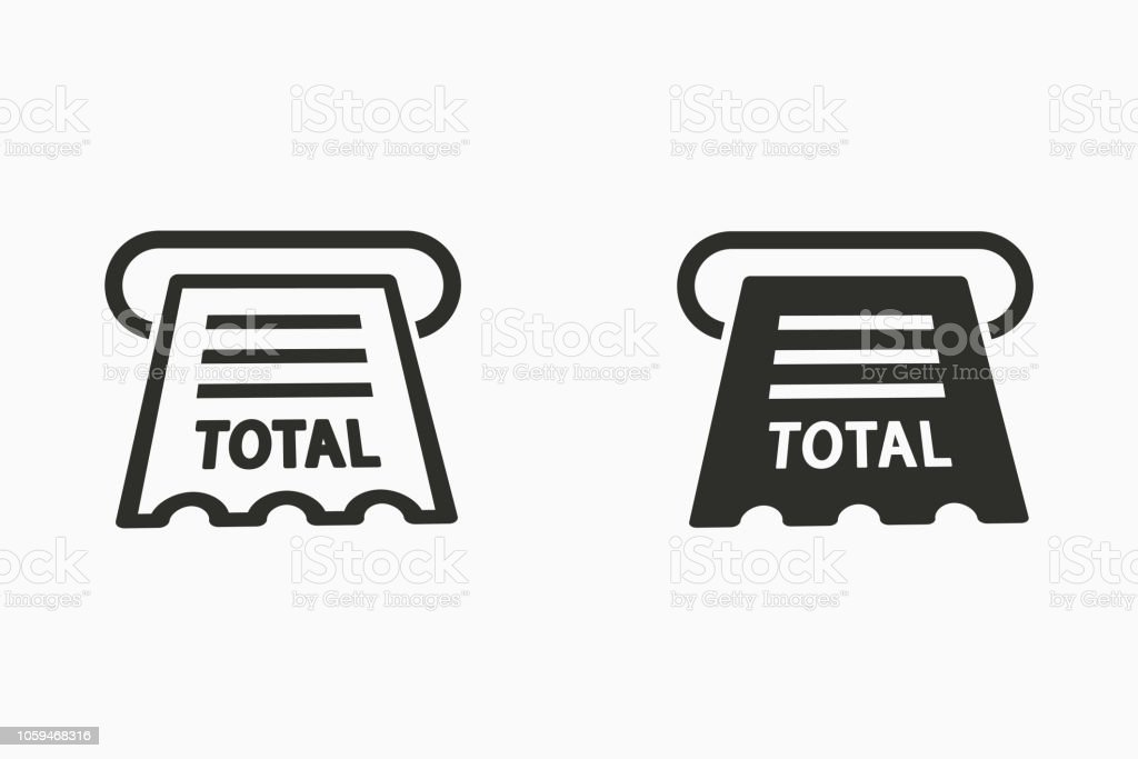 receipt vector icon for graphic and web design royalty free receipt vector icon for