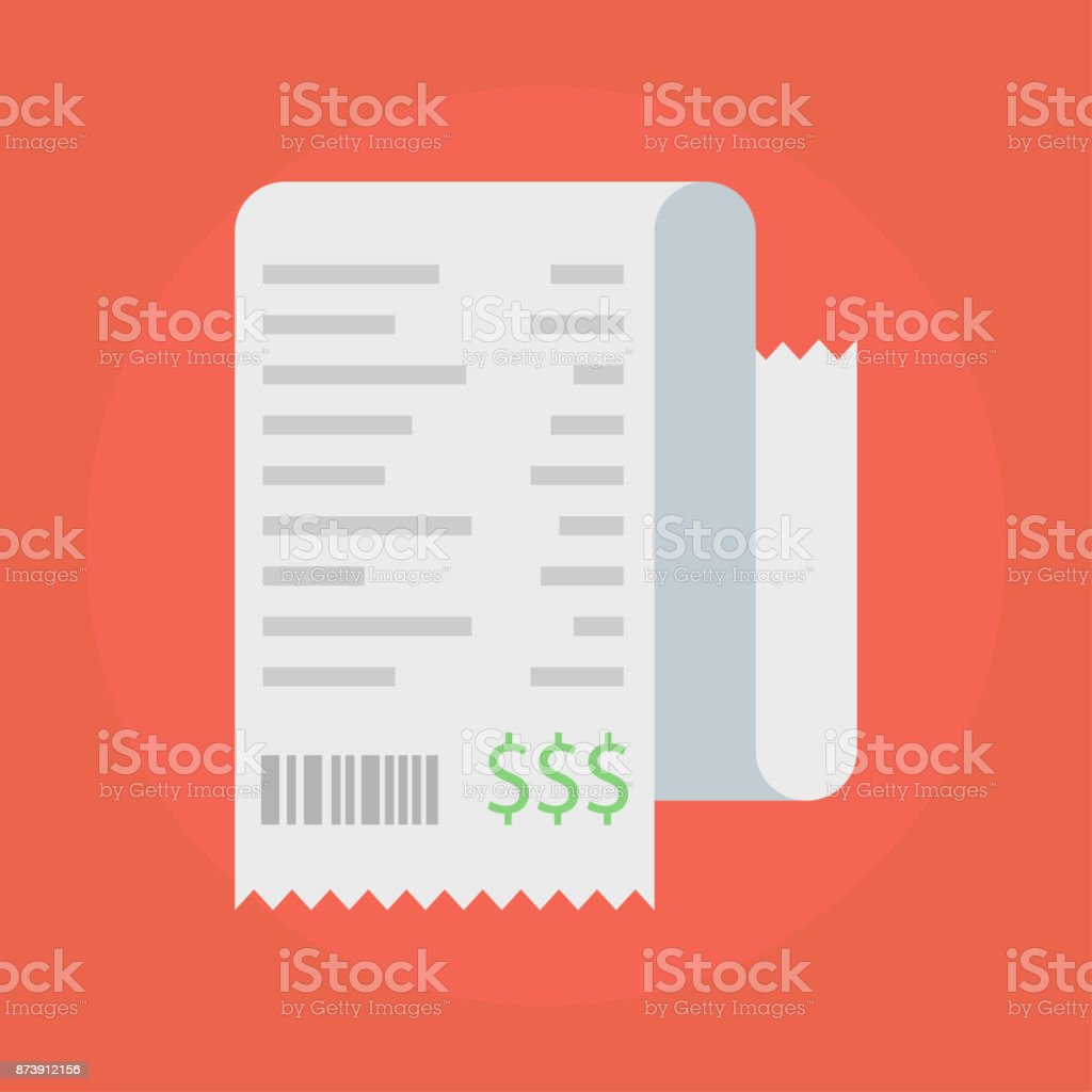 Receipt vector icon vector art illustration