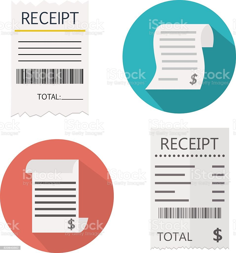 Receipt vector art illustration