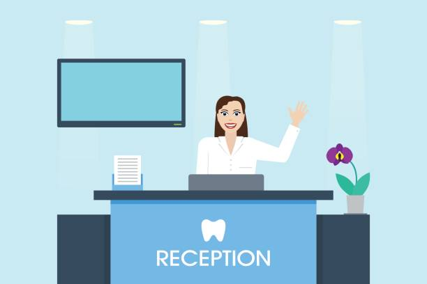 Royalty Free Hospital Reception Clip Art Vector Images