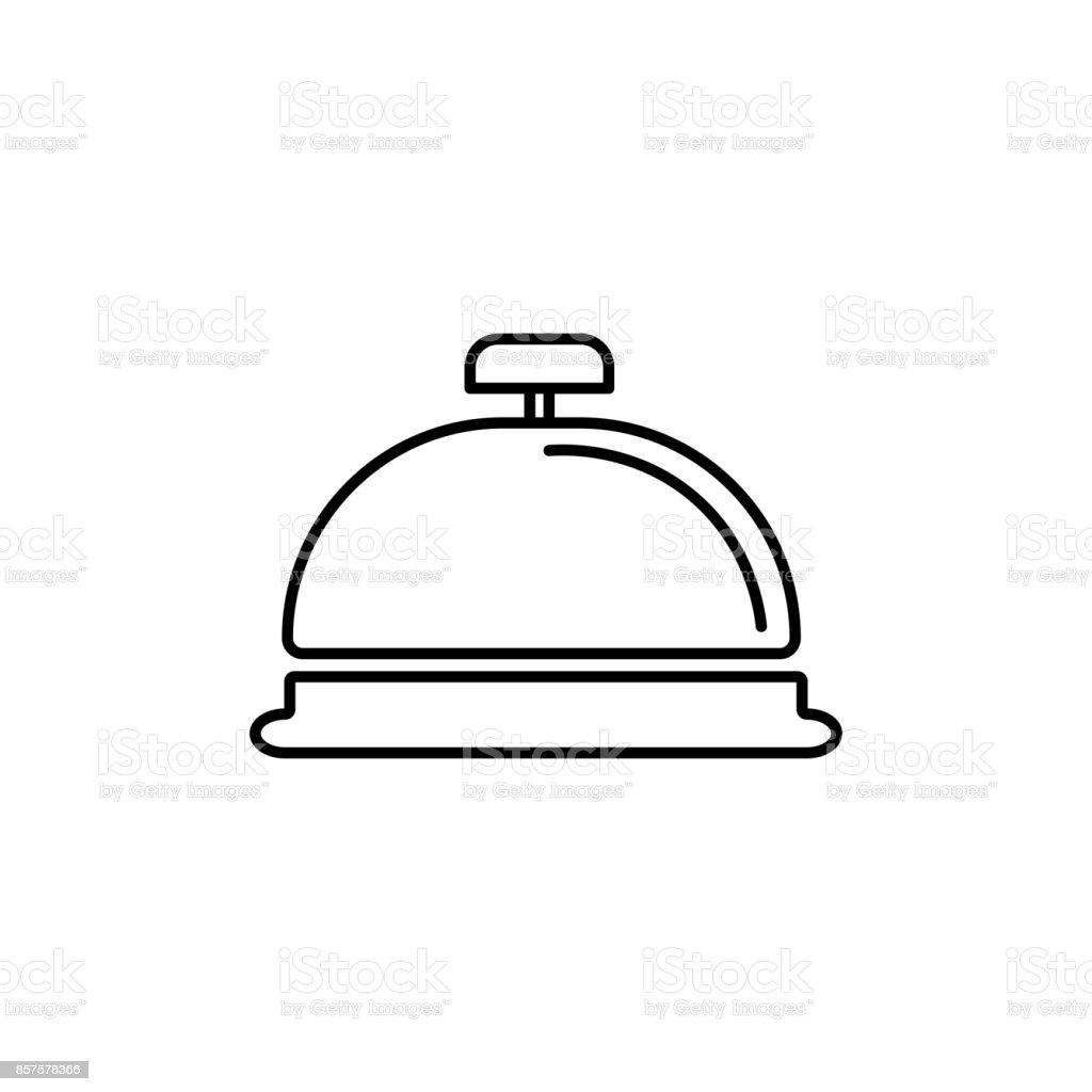 icône de réception bell - Illustration vectorielle