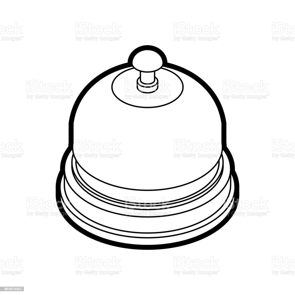 Reception bell Isometrics isolated. Table bell Vector illustration royalty-free reception bell isometrics isolated table bell vector illustration stock vector art & more images of alarm