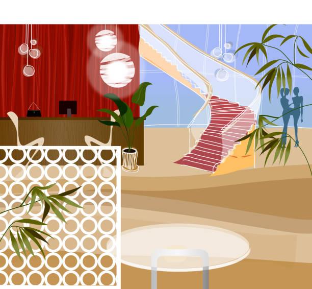 illustrations, cliparts, dessins animés et icônes de réception au bout du couloir - réception en plein air