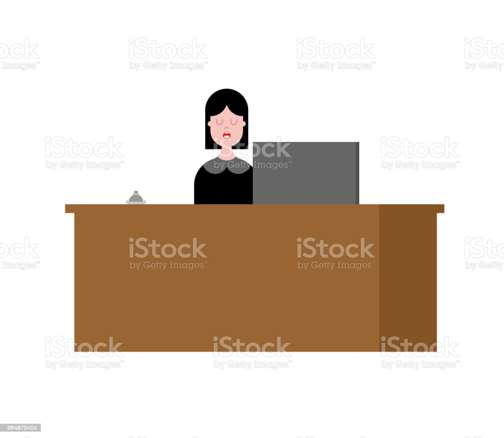 Reception girl and rack. Acceptance of guests. Vector illustration royalty-free reception girl and rack acceptance of guests vector illustration stock vector art & more images of adult