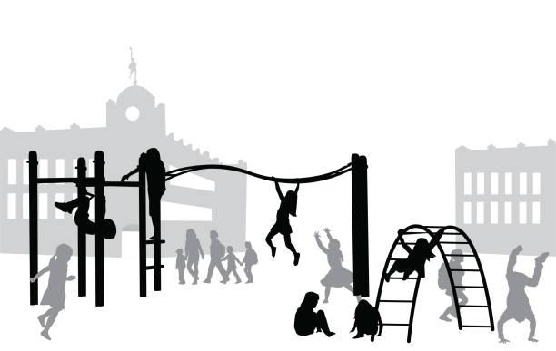 Aire de jeux de récréation - Illustration vectorielle