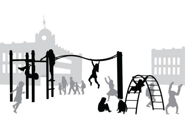 recess playground - recess stock illustrations, clip art, cartoons, & icons