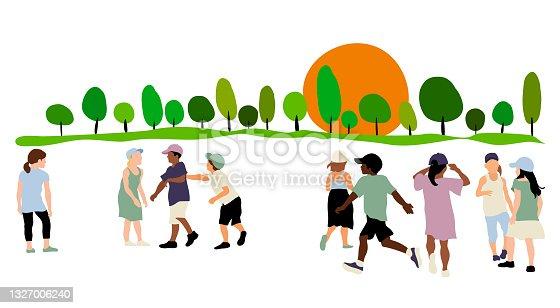 istock Recess Schoolyard Socializing 1327006240