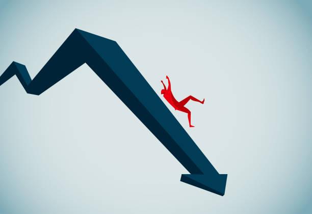 stockillustraties, clipart, cartoons en iconen met recessie - faillissement