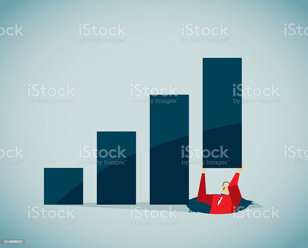 Recession vector art illustration