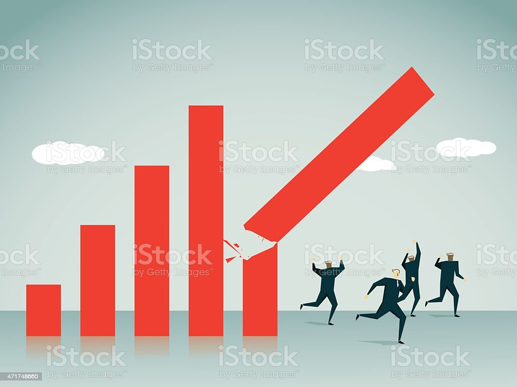 -Recession,Illustration vector art illustration