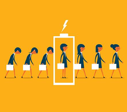 recharge - businesswoman